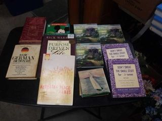 ASSORTMENT OF BOOKS   THOMAS KINKADE  PURPOSE
