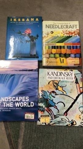 4 HARDBACK BOOKS ON VARIOUS ART TOPICS