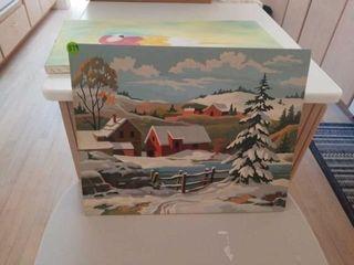 SNOWY FARM PICTURE