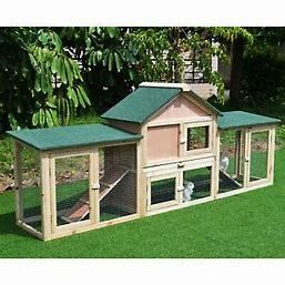 PawHut Wood 2 Story Outdoor Deluxe Animal Hut
