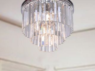 The lighting Store Justina 5 light 3 Tier Flush Mount Chandelier