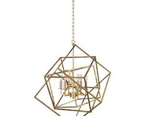 Geometric Metal Cage 6 light Chandelier