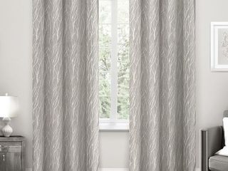 ATI Home Forest Hill Woven Blackout Grommet Top Curtain Panels Set of 2