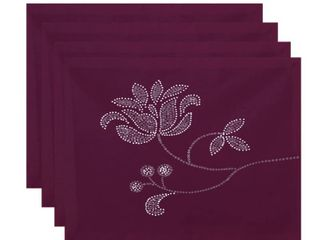 Traditional Flower Fabric Rectangle Napkins 4 Pack