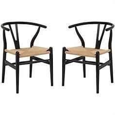 Poly  amp  Bark Weave Chairs Set of 2