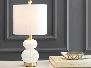 Daphne Ribbed Metal Glass lED Table lamp by JONATHAN Y
