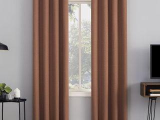 Sun Zero Channing Fleece Insulated Total Blackout Grommet Curtain Panels Set of 2