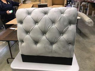 Silver Orchid Bambrick Tufted Velvet Upholstered Chair BACK PIECE ONlY  NOT FUll SET