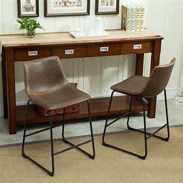 Carbon loft Inyo PU leather Vintage Barstools Set of 2