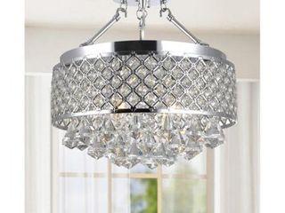 The lighting Store Candice Chrome Crystal Semi Flush Mount Chandelier