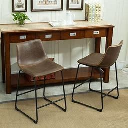 Carbon loft Inyo PU leather Dining Chairs Set of 2