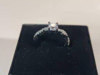 Sterling Silver AA Zircon Gemstone Ring Size 5