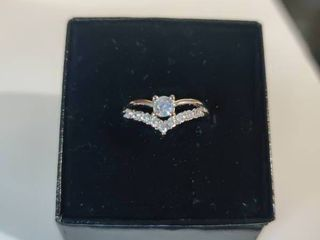 Sterling Silver AA Zircon Gemstone Unique designed ring Size 5