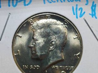 1970 D  1971 D  1971 P Kennedy Half Dollars