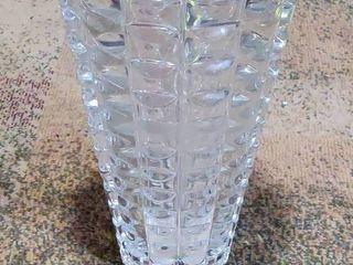 large Republic Crystal Vase   Extra Cool Cut   Handmade   Antique
