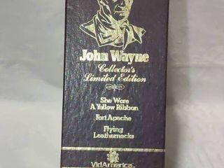 Vintage John Wayne 3 set VHS movies