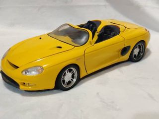 Yellow Mack 3 Mustang Convertible Die Cast Car