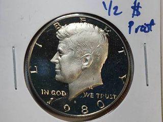 1980 S DCAM  P  D Kennedy Half Dollars