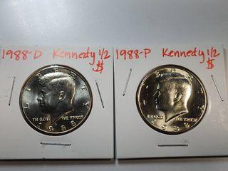 1988 P  D Kennedy Half Dollar