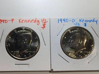 1990 P  D Kennedy Half Dollar