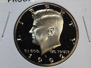 1991 P  1992 DCAM Proof Kennedy Half Dollar