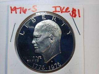 1976 S DCAM  1976 P  1976 D Eisenhower  1 Coins