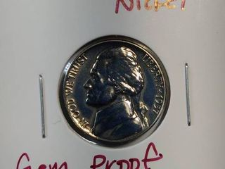 1957  1959 DCAM Gem Proof Jefferson Nickels with Full Steps