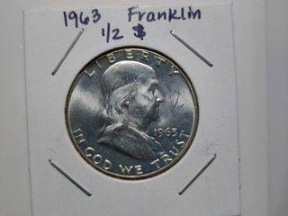 1963 Silver Franklin Half Dollar