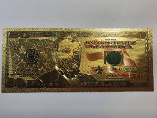 24K Gold legal Tender  50 Bill
