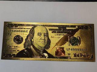 24K Gold legal Tender  100 Bill