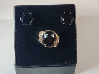 Sterling Silver 10 Diamond and 3 0 CTW Sapphire Designer Ring Size 7