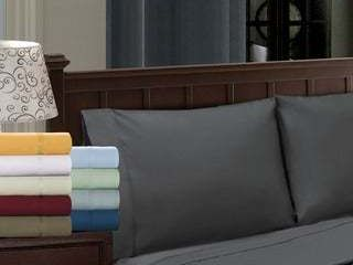 Superior Egyptian Cotton 1200 Thread Count Solid Pillowcase Set