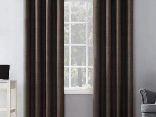 Sun Zero Duran Thermal Insulated Total Blackout Grommet Curtain Panel 50 x 108  Set of 2