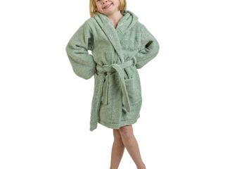 Superior Collection luxurious Cotton Kids Hooded Bath Robe MEDIUM