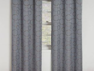 Eclipse Meridian Blackout Window Curtain Panel 63 in in River Blue