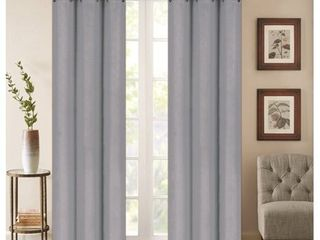 Denver Embossed Blackout 84 inch Curtain Panel