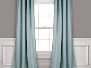lush Decor Insulated Grommet Blackout Curtain Panel Pair  52 x 95  in Blue
