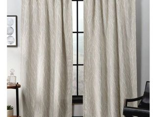 ATI Home Forest Hill Woven Hidden Tab Top Sheer Panel Pair  52 x 84  in linen