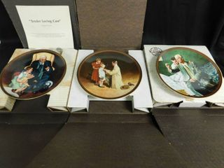 Normal Rockwell Collector Plates  3 ea