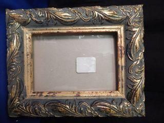 Beautiful Blue   Gold Frame 5x7
