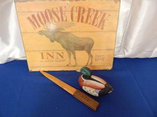 Moose Sign  letter Opener   Duck