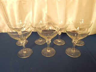 Beautiful Vintage Clear Champagne Glasses