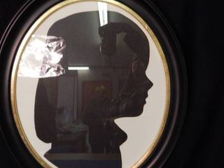 50 x 16 Oval Frame with a Silhouette Print
