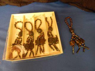 Anneaux Serviettes Sculpted Elephant Napkin Rings lot of 5