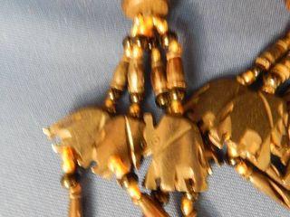 Anneaux Serviettes Sculpted Elephant Napkin Rings  lot of 4