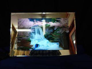 Motion Waterfall Print with lights   Sound