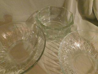 Glass Bowls  3 ea