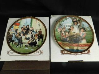 Normal Rockwell Collector Plates  2 ea