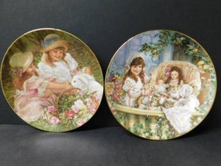 Collector Plates  Easter Morning   Cats in the Cradle    2 Items