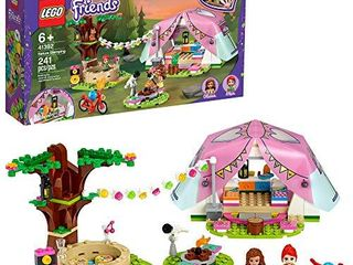 lEGO Friends Nature Glamping 41392 Building Kit  Includes lEGO Friends Mia  a Mini Doll Tent and a Toy Bicycle  New 2020  241 Pieces